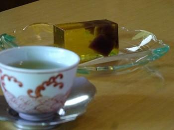 160614浜松市茶室「松韻亭」⑧、煎茶と鼈甲羹 (コピー).JPG