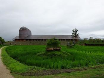 160715ラ コリーナ近江八幡37、銅屋根と田んぼ (コピー).JPG