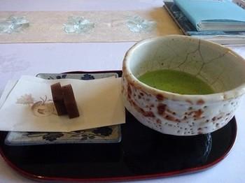 170102三甲美術館⑧、抹茶と羊羹 (コピー).JPG