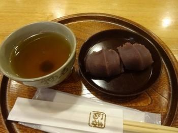 170124赤福茶屋ジェイアール名古屋タカシマヤ店⑥、赤福餅2個盆 (コピー).JPG