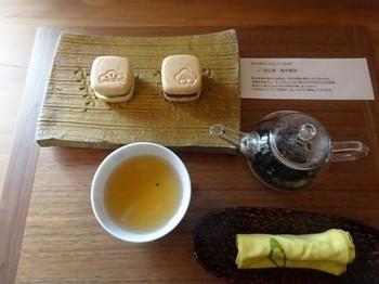 170126お茶の間「のおと」⑥、美作番茶と最中 (コピー).JPG