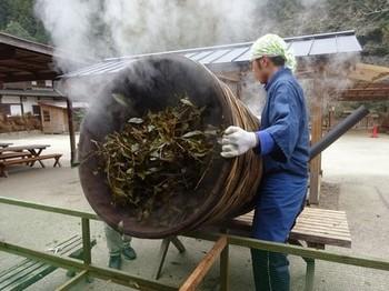 170129ふるさと食の再発見「寒茶」30、寒茶づくり(茶葉取り出し) (コピー).JPG