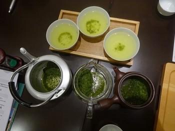 170214深緑茶房「お茶教室」⑯、急須の材質の違いによる飲み比べ (コピー).JPG