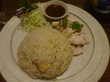 170219タイごはん「ポーヤイ」⑦、蒸し鶏のしょうがみそご飯 (コピー).JPG