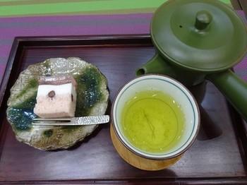 170314香嘉園matcha cafe③、煎茶セット(1煎目) (コピー).JPG