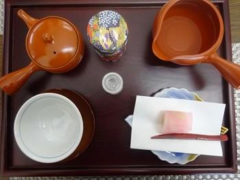 170324いび茶の里カフェ③、深蒸し煎茶セット (コピー).JPG