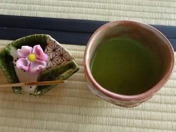 170420旧近衛邸13、お抹茶と和菓子(ハナミズキ) (コピー).JPG