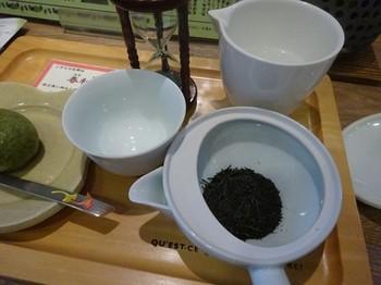 170509茶カフェ深緑茶房⑤、春和楽と新茶まんじゅう (コピー).JPG