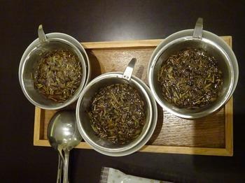 s_170926深緑茶房「お茶教室」③、ほうじ茶飲み比べ(抽出温度).JPG