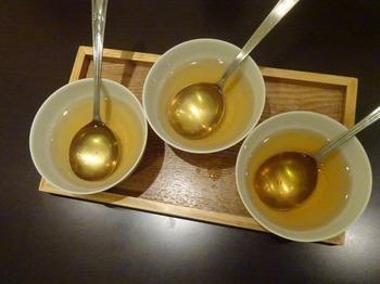 s_170926深緑茶房「お茶教室」④、ほうじ茶飲み比べ(抽出温度).JPG