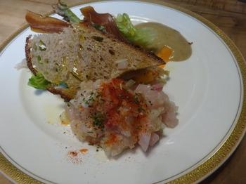 s_171002イノーヴェ⑤、前菜(宮城産メカジキのサラダ).JPG