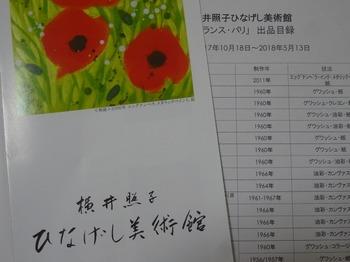 s_171114横井照子ひなげし美術館⑪、リーフレットと展示目録.JPG