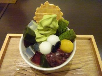 s_171128茶カフェ深緑茶房「お茶教室」⑩、和みパフェ.JPG