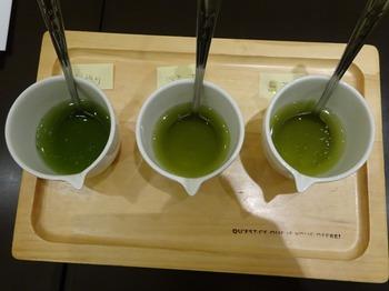 s_180226茶カフェ深緑茶房「お茶教室」⑨、飲み比べ2煎目.JPG