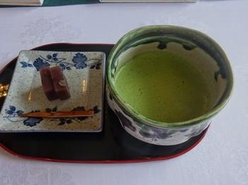 170622三甲美術館⑦、お抹茶と羊羹 (コピー).JPG