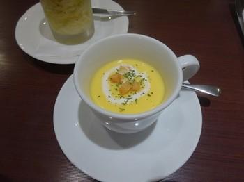 170727文化洋食店①、スープとサラダ (コピー).JPG