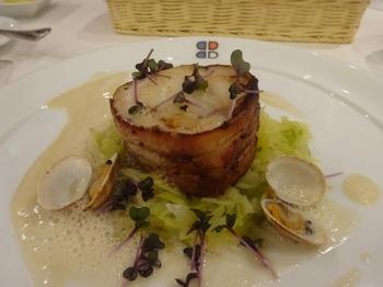 s_180214ポール・ボキューズ名古屋⑤、ベーコンを巻いた真鱈のポワレ.JPG