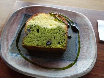 s_180222お茶の間のおと⑤、濃茶ケーキ.JPG
