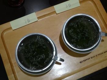 s_180710深緑茶房「お茶教室」04、浸出時間1分:3分.JPG