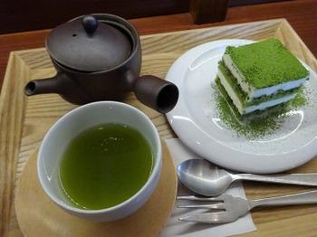 s_180823茶菓きみくら茶寮⑧、深蒸し茶と抹茶ティラミス.JPG