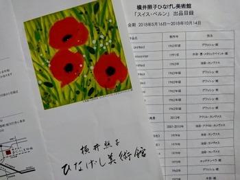 s_180928横井照子ひなげし美術館⑨、リーフレットと展示目録.JPG