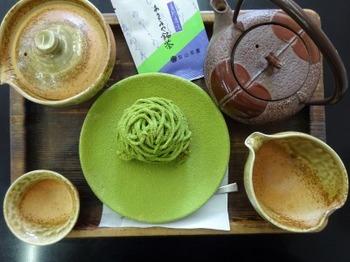 s_181227山本園04、上煎茶とモンブラン.JPG