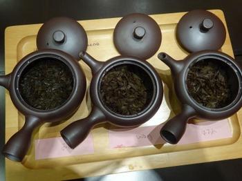 s_190327深緑茶房お茶教室03、3品種の飲み比べ(おくみどり・紅ひかり・紅ほまれ).JPG